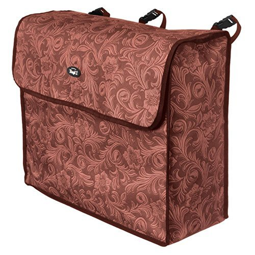 Tough-1 Blanket Storage Bag Brown Tooled Leather by Tough-1