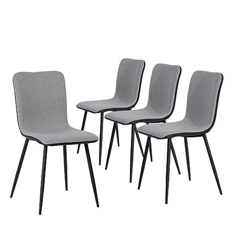 Amazon.com: Coavas - Juego de 4 sillas de comedor de cocina ...