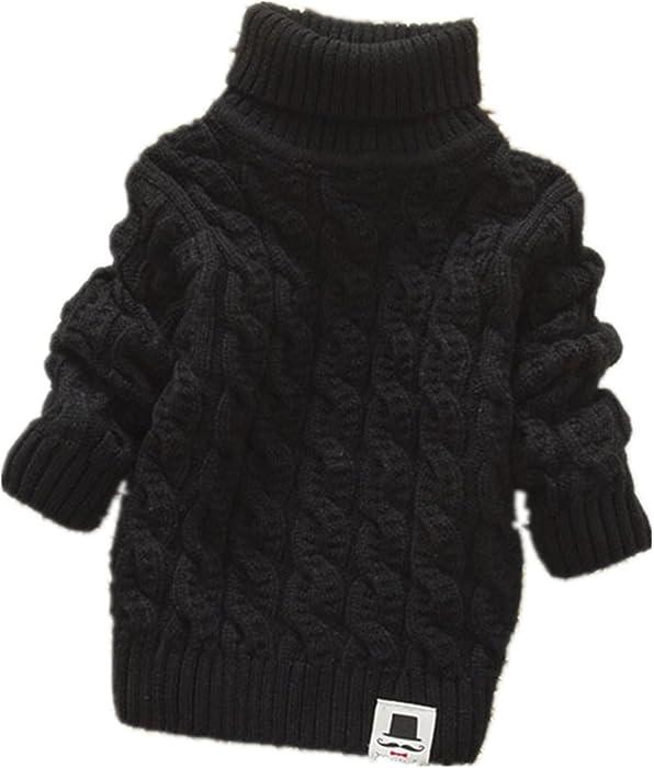 7f9b3e420 Amazon.com  Boys Girls Turtleneck Sweaters Soft Warm Children s ...
