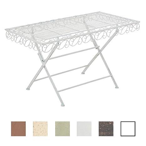 Tavolo Rettangolare Ferro Da Giardino.Clp Tavolino Rettangolare Josefa In Ferro Tavolo Da Giardino