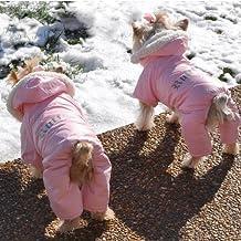 "Dog Coat - ""Ruffin' It"" Snowsuit - Pink - S/M"