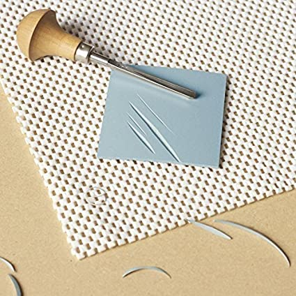 clear prints Easy-To-Cut Linoleum Carving Sheets Studio Pack of 8 Easy to Cut Blue Soft /& Firm Artist Printmaking Block Printing set for sharp 2 x 3