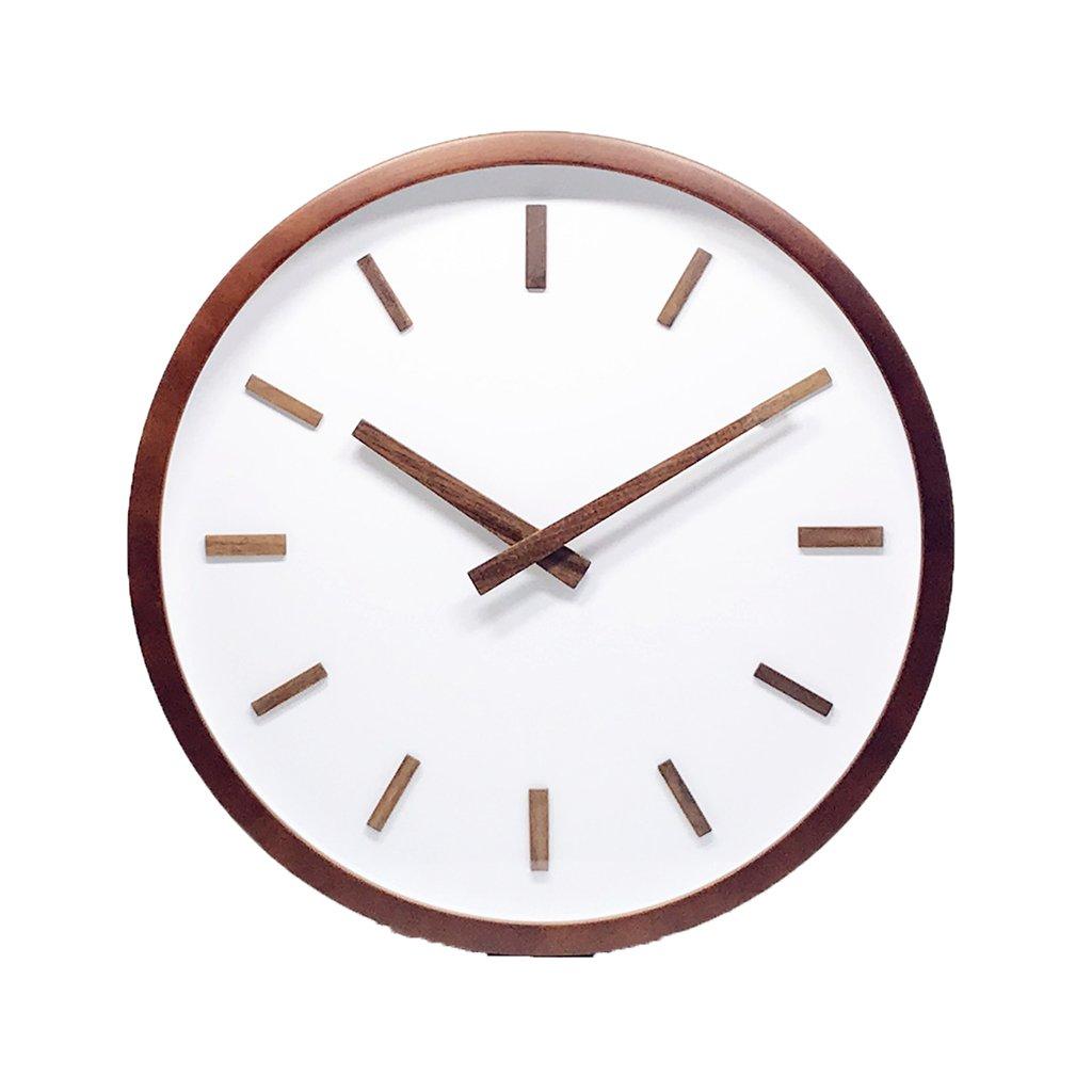 XZG 書店の壁時計、(30-35CM)スタディ教室コーヒーショップウォールクロック丸型木製の壁時計 人生の場所を判断する (色 : B, サイズ さいず : 30*30CM) B07F67KPBG 30*30CM|B B 30*30CM