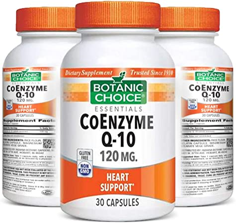 Botanic Choice CoEnzyme Q10 - Adult Daily Supplement - Antioxidant Support Promotes Healthy Heart and Immune System Anti-Aging Benefits Essential Cellular Energy for Vital Organs 120 mg
