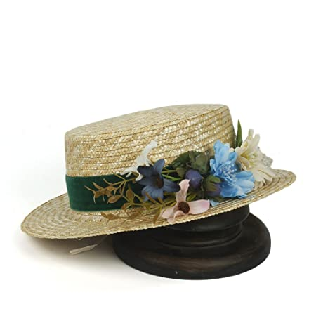 GR Women Summer Beach Sun Hats Men Boater Hats Bone Feminino 2017 Flat Top  Straw Hat (Color   Natural 73db4702d005