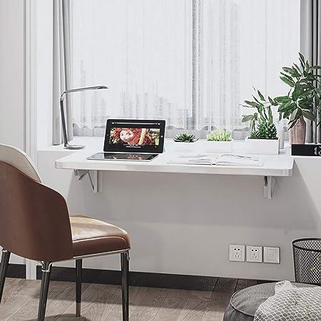Herxy Mesa Plegable Blanca, Mesa de Cocina abatible, Escritorio de ...