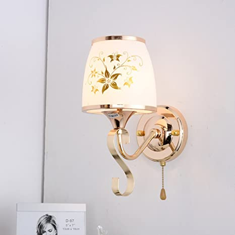 Sheen European Style Simplicity Wall Lampe Base Hardwired Flush Mount Wall Sconce Bedroom Living