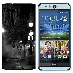 TECHCASE---Cubierta de la caja de protección para la piel dura ** HTC Desire Eye ( M910x ) ** --Lámpara Negro Blanco Noche de fotos