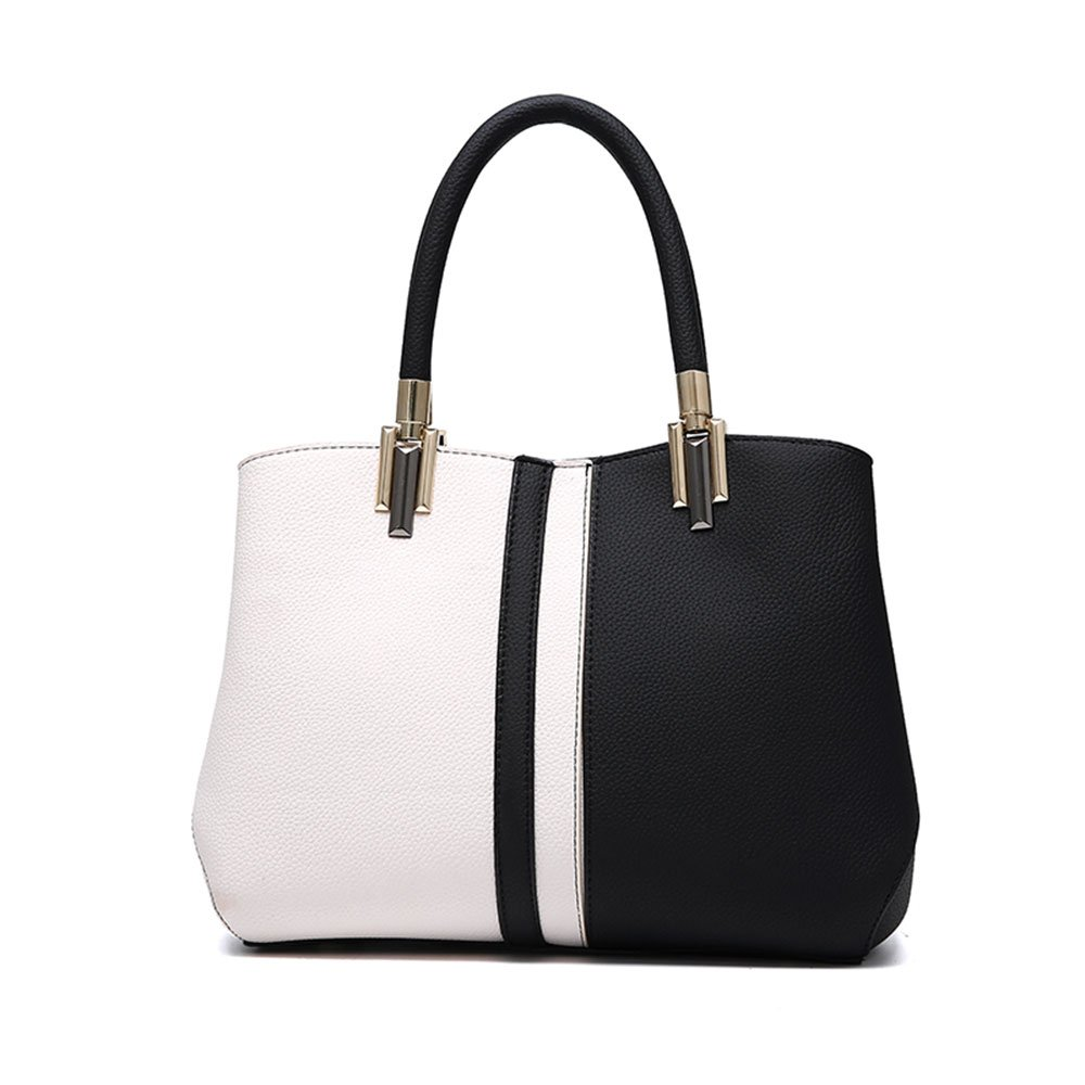561c1e7bccf Amazon.com  Nevenka Purses and Handbags for Women Top Handle Bags Leather  Satchel Totes Shoulder Bag from (Black)  Clothing