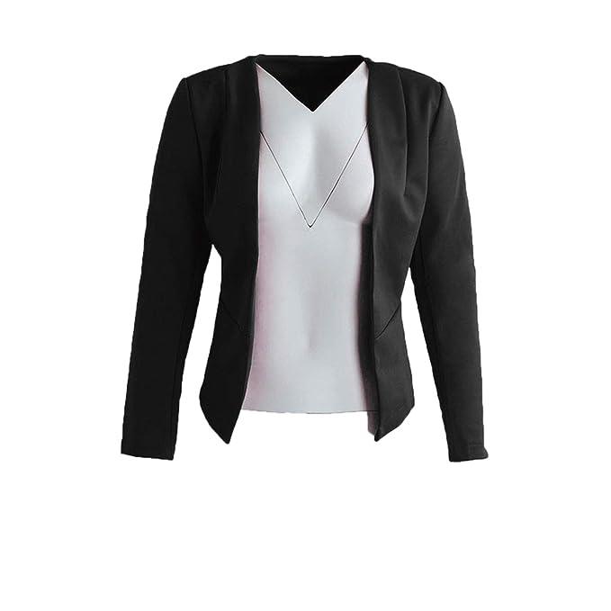 Amazon.com: Elegante chaqueta de mujer para oficina, color ...