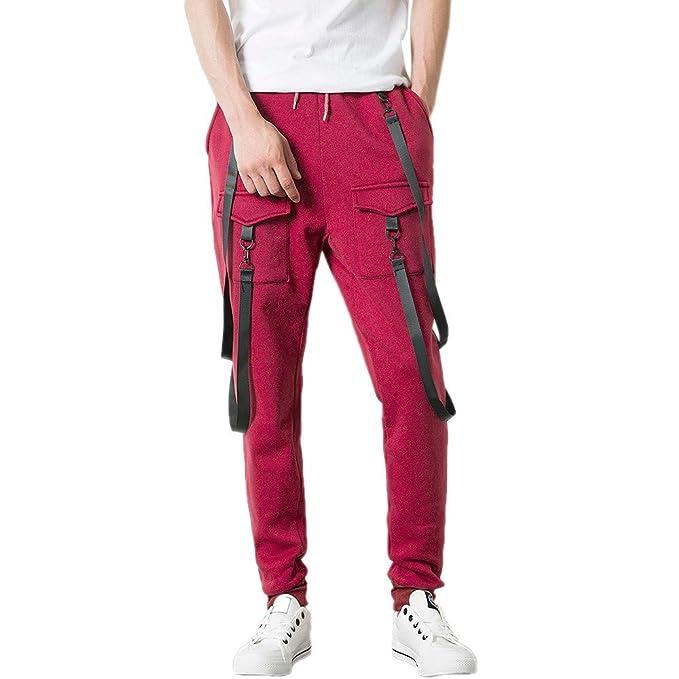 Marlene1988 Hombre Pantalones Pantalones Deportivos para Hombre Pantalones  Trekking Hombres Pantalones Camuflaje Jeans Color sólido De Bolsillos  Pantalones ... 7cf03b12312