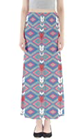 CowCow Womens Aztec Tribal Damask Floral Maxi Skirt