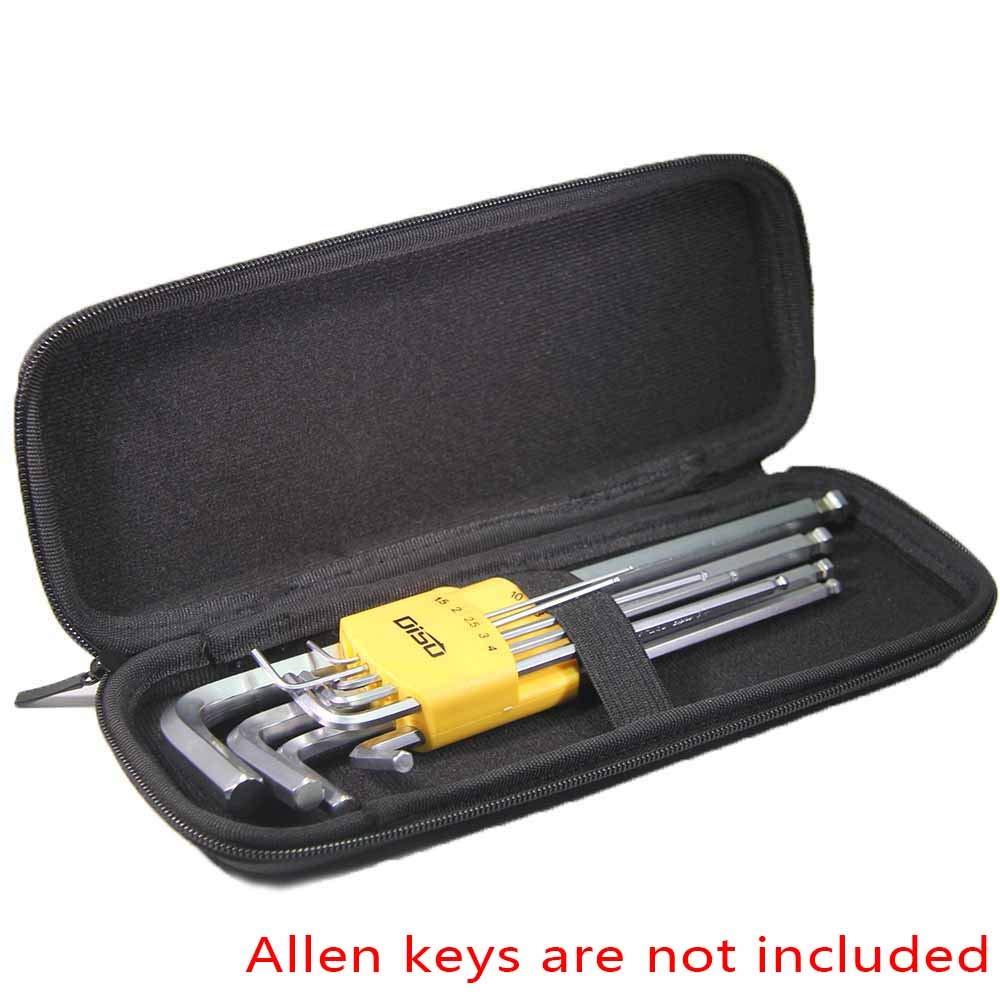 inDomit Hax Allen Key Portable Case with 9 Set Allen Wrench Holder