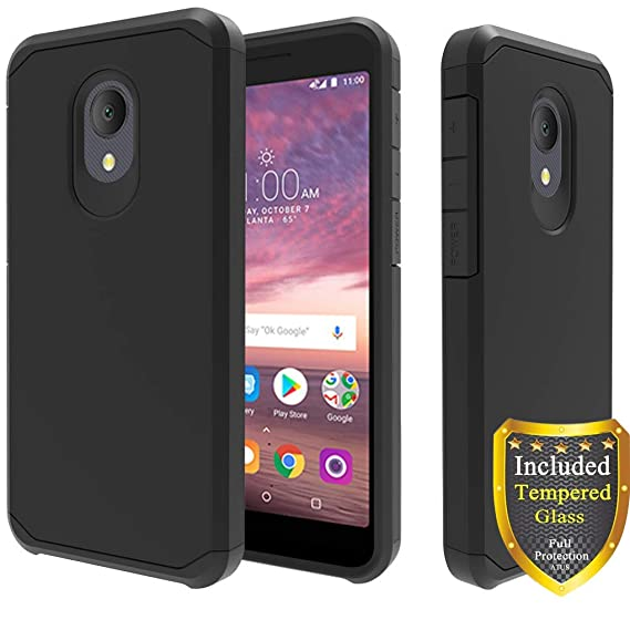 Alcatel Avalon V Case, Alcatel IdealXtra 5059R Case, Alcatel 1X Evolve  Case, Alcatel TCL LX A502DL Case, Tempered Glass Screen Protector, ATUS  Hybrid