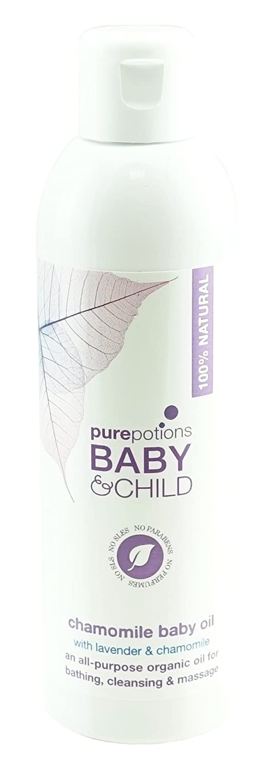 Pure Potions Camomile Baby Oil, Baby Massage 200ml PurePotions CBO100