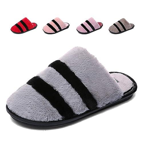 Hishoes Zapatillas de Estar por casa Mujer Hombres Zapatillas de Felpa cálidas Zapatillas Invierno Calentar Antideslizante: Amazon.es: Zapatos y ...