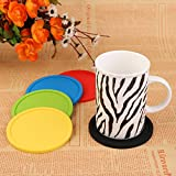 ANPI Silicone Coasters Set of 8, Non-Slip Durable