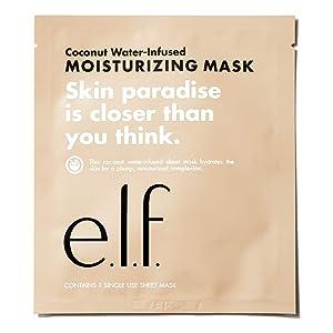 e.l.f. Cosmetics E.l.f. coconut water-infused moisturizing sheet mask, 1 sheet per package