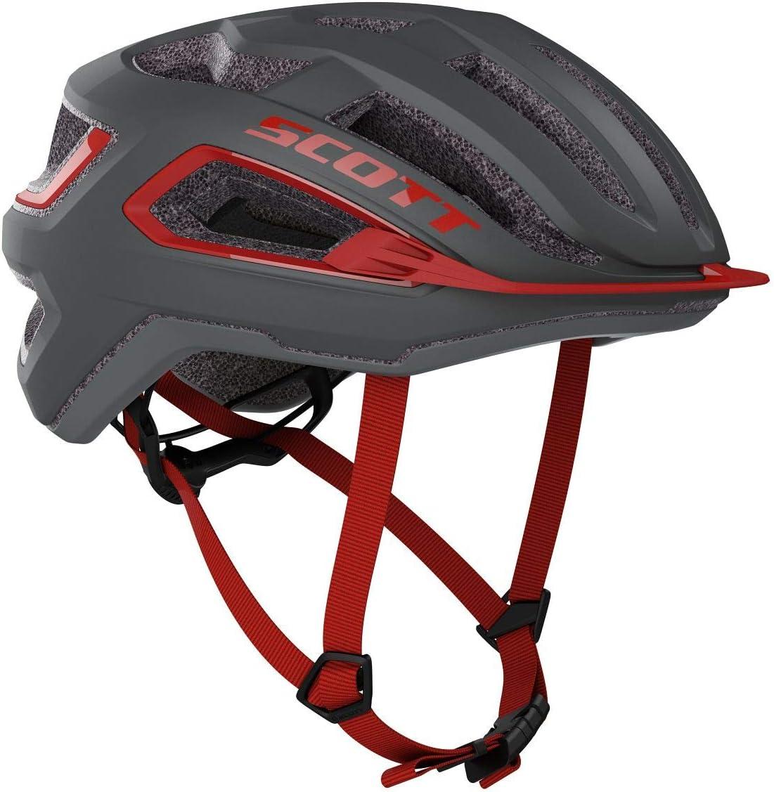 SCOTT Arx 2020 - Casco para Bicicleta, Color Gris y Rojo: Amazon ...