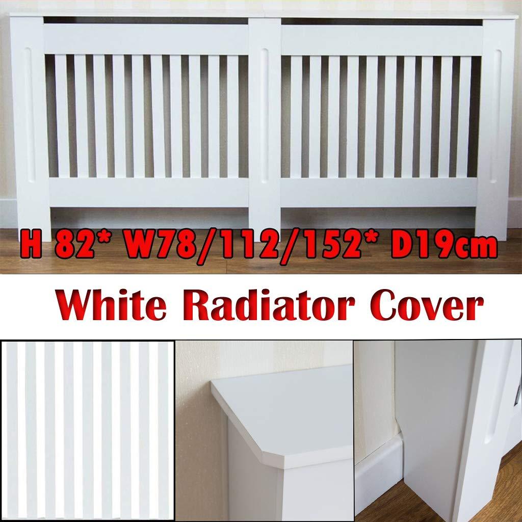 Grande copritermosifone Bianco Moderno in MDF di Sicurezza per armadietto Medio Bianco Yiyai Medium Telaio autoportante Piccolo