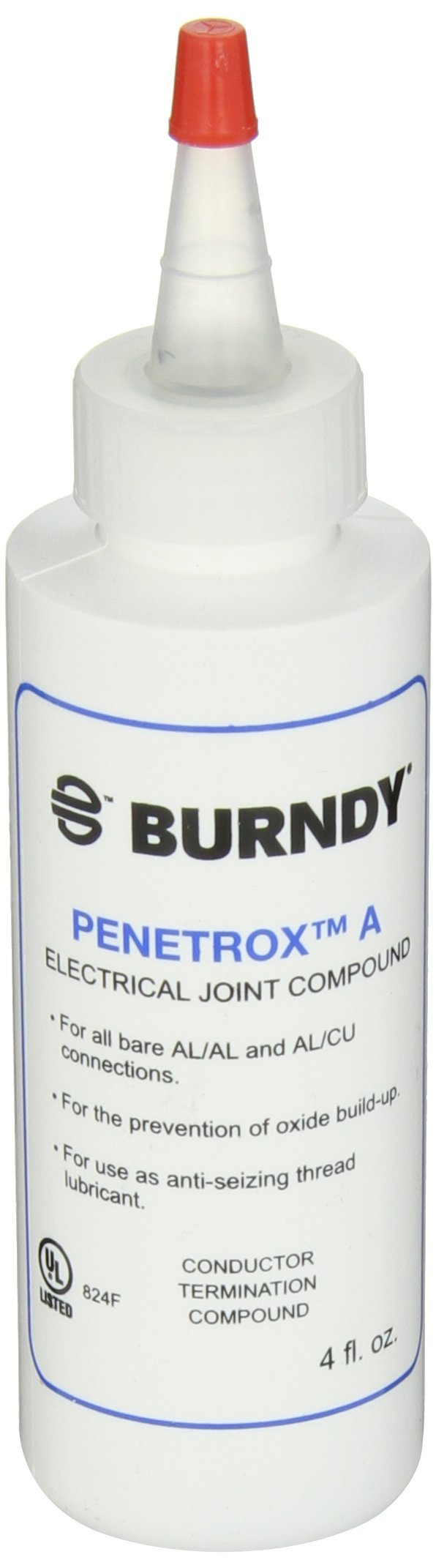 Burndy PEN A-4 Oxide-Inhibiting Joint Compounds PENETROX A, 4 oz Container Size, Squeeze Bottle Container Type