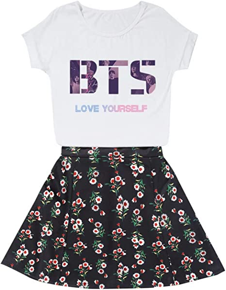 CHAIRAY KPOP BTS Love Yourself - Conjunto de Camisas y Falda de ...