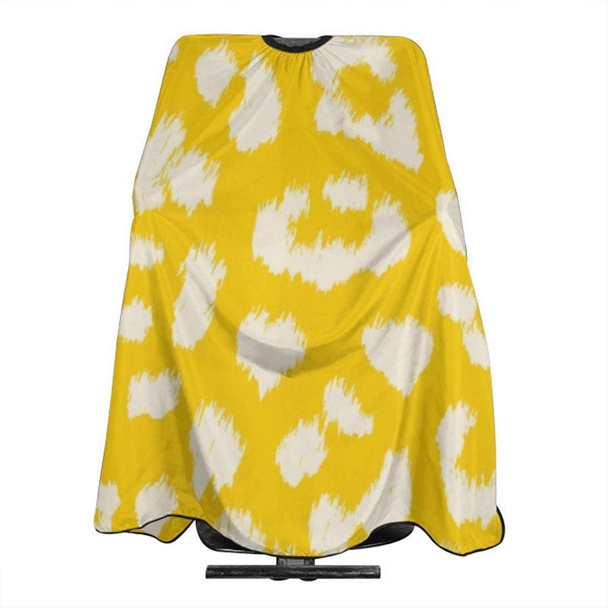Mantequilla amarilla con estampado de leopardo, corte de pelo ...