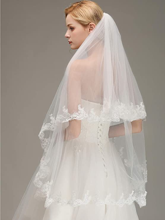 Full lace edged barely there wedding veil \u2022 Lace Wedding Veil \u2022 Barely there wedding veil \u2022 Delicate lace edge sheer veil