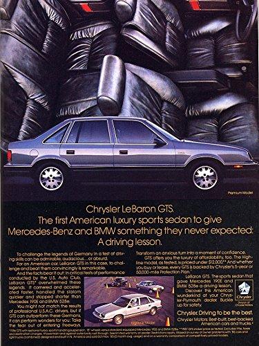 Chrysler Lebaron Gts - 1987 CHRYSLER LeBARON GTS 4-Door SEDAN