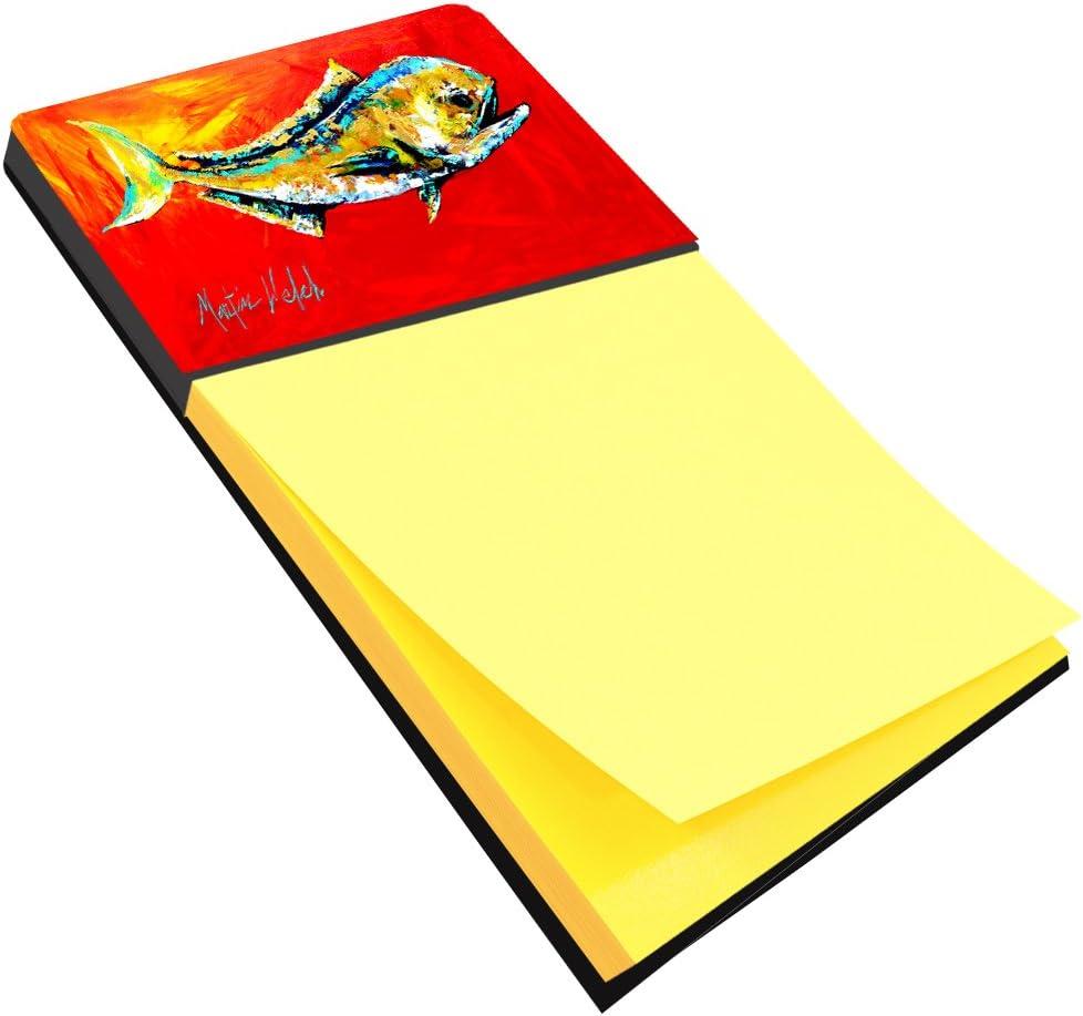 Large Multicolor Carolines Treasures 8548SN Dolphin Refiillable Sticky Note Holder or Postit Note Dispenser