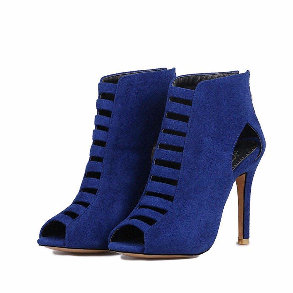 L'Europe et les Etats-Unis chaussures grande taille, hautes bottes, bottes en daim, chaussures femme, sandales bouche du poisson RFF-Women's Shoes