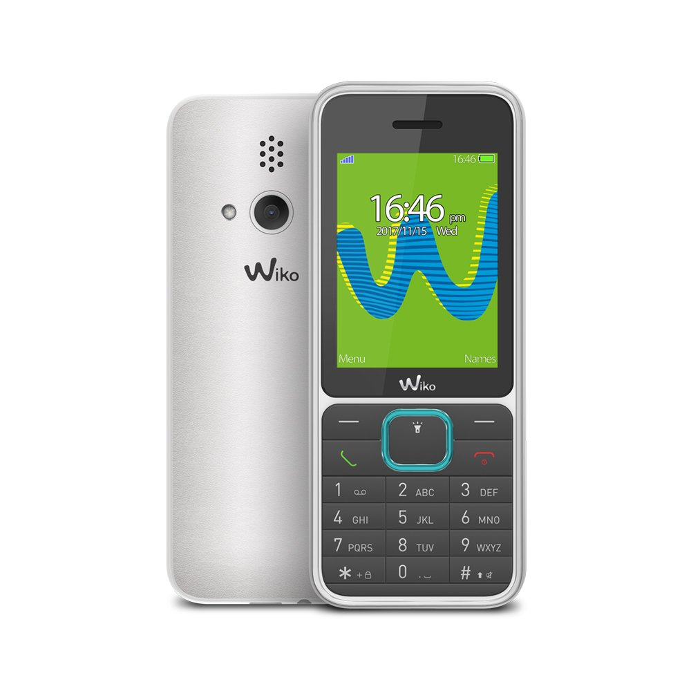 """Wiko Riff3 - Teléfono móvil Libre de 2,4"""" (Dual SIM, Radio FM, Teclado físico, admite microSD 32 GB, Bluetooth, Linterna LED y Reproductor MP3) Color Negro y Blanco"""