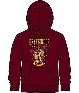 0dda5346f Bioworld Harry Potter Gryffindor Boys Pullover Distressed Hoodie Sweatshirt