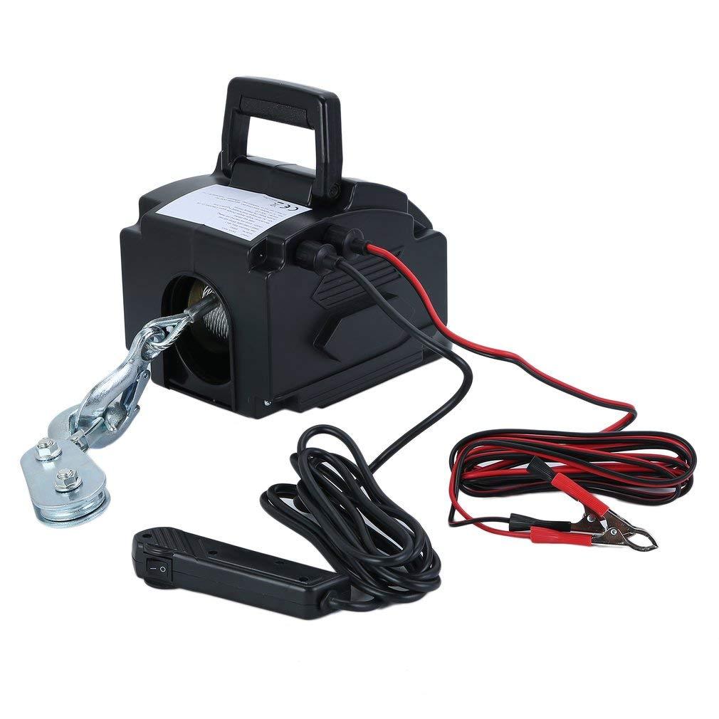 [Kinshops]Seilhebezug,Seilwinde Elektrisch Elektro Seilwinde CCS-12V DC/5000KG 2000LB
