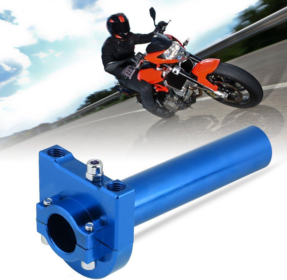 Gold Gold//Blau//Rot//Schwarz Universal 7//822mm Aluminiumlegierung Lenker Gasgriffe Gaspedal f/ür Motorrad Roller Dirt Bike optional