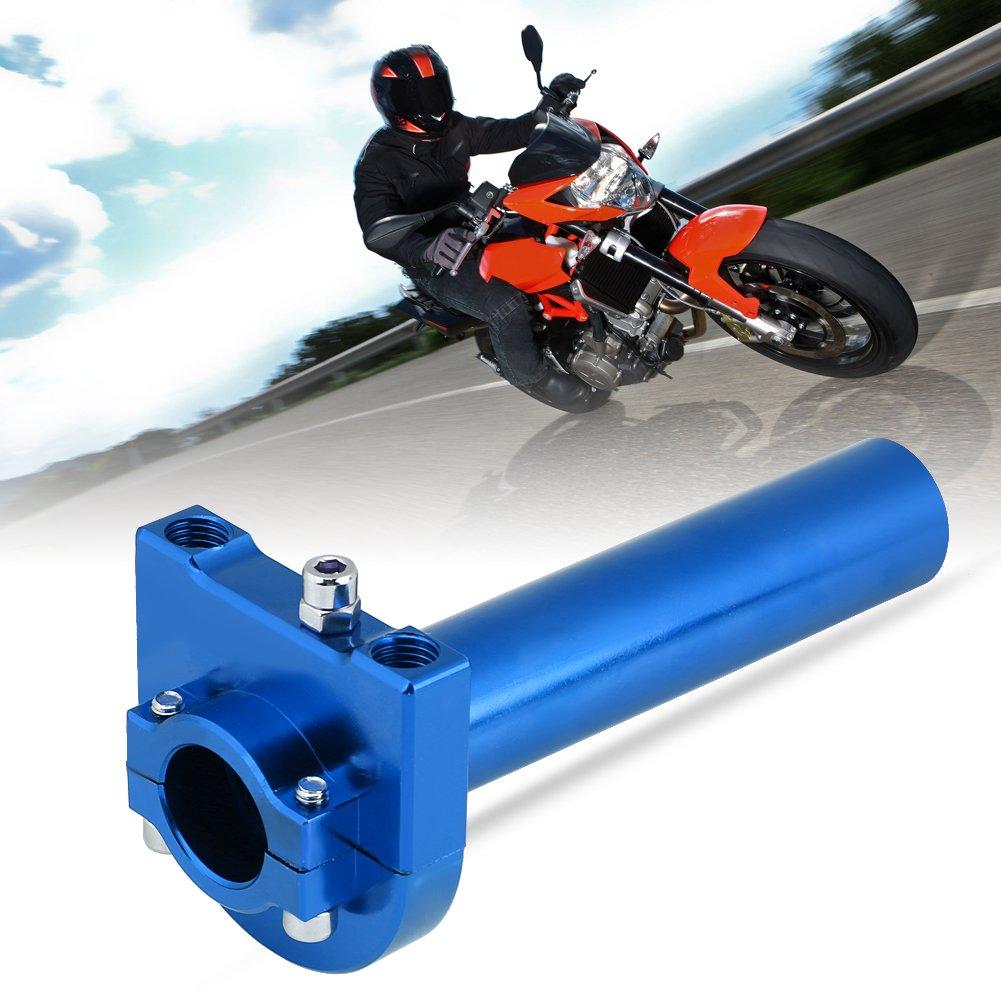 KIMISS KI6005 Universal Throttle Twist Grips Gold 7//822mm Manubrio Throttle Twist Grips Accelerator per moto Scooter Dirt Bike