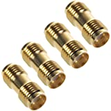 Aketek 4 Pcs SMA Female to SMA Female Jack in Series RF Coaxial Adapter Connector