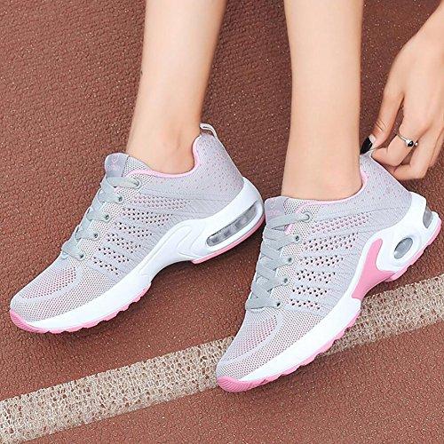 Farbe Leichtgewicht der Eignungs Laufende Schuhe YaXuan Sport 40 Breathable Sich Größe C Turnschuhe Plattform Schuhe schnüren Stoß gehende Schuhe Oben Frauen EIN pxgTAEqwX