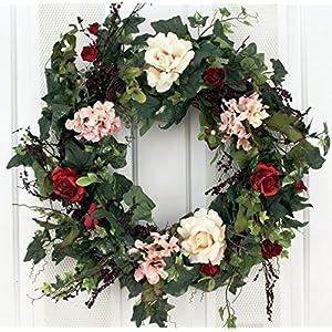 silk rose wreaths