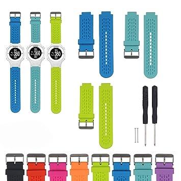 Correa de reloj de repuesto de silicona ajustable iFeeker para relojes de golf Garmin Approacch S2