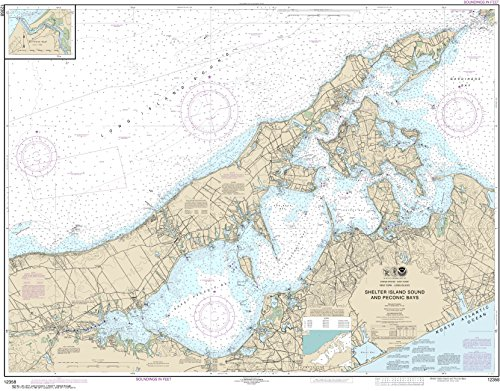 NOAA Chart 12358 New York Long Island, Shelter Island Sound and Peconic Bays;Mattituck Inlet: 34.8