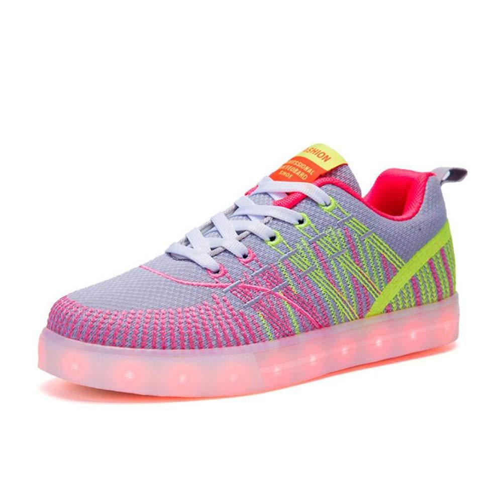 Jungen und Mädchen Schuhe Mode Komfort LED Shine Schuhe USB Lade Licht Breathable Turnschuhe Knit Trainer Schuhe/Weihnachten, Halloween, Ghost Step Dance Schuhe