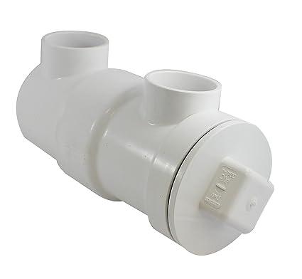 Endura 393243AW PVC In Line Drainer Strainer, White