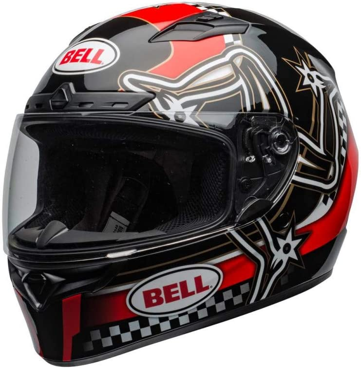 Motodak Casque Bell Qualifier DLX MIPS Isle of Man 2020 Gloss Red//Black Taille l