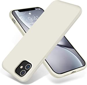 OTOFLY iPhone 11 Case,Ultra Slim Fit iPhone Case Liquid Silicone Gel Cover with Full Body Protection Anti-Scratch Shockproof Case Compatible with iPhone 11 (Antique White)