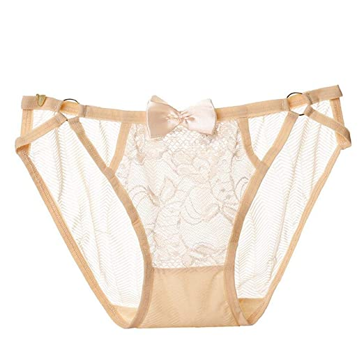 4ffb3a4dfd57 Amazon.com: Kanzd Women's Lace Lingerie Knickers G-String Thongs Panties  Underwear Briefs (Beige): Clothing