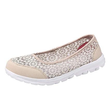 Zapatos planos mujer encaje hueco,❤ Sonnena Zapatillas de mujer Soft Shoes Zapatos de