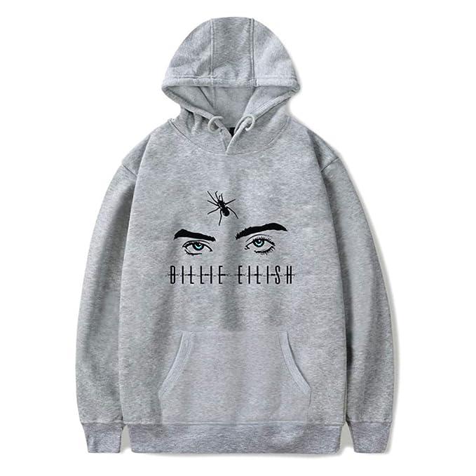 AMOMA Unisex Billie Eilish Hoodie Freizeit Musik-Fanbekleidung Kapuzenpullover