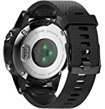 ANCOOL for Garmin Fenix 5S Band 20mm Width Easy Fit Soft Silicone Watch Band with Black Color Metal Buckle for Fenix 5S…