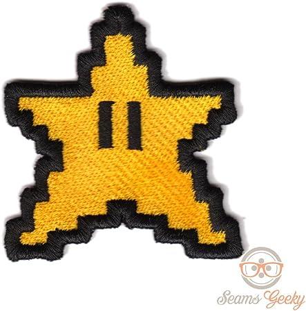 Super Mario Patch 8 Bit Pixel étoile Brodée Geek Jeu